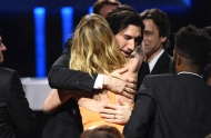 Adam Driver e Laura Dern – Critics' Choice Awards, 12 gennaio (AP Photo/Chris Pizzello)